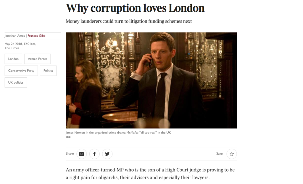 Why corruption loves London - Russian money laundering
